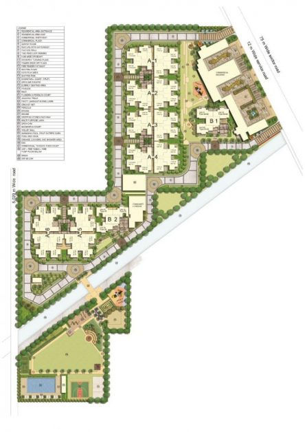 MRG WORLD The Ultimus sector 90 best affordable housing project , full project map